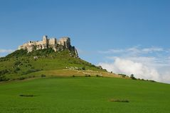 Spis castle. The ruins of Spis castle, Slovakia stock image