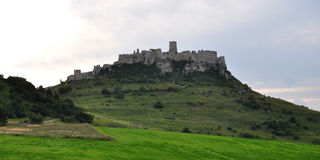 Spis Castle in Slovakia, Europe. View Spis castle on the hill, Slovakia, Europe royalty free stock images