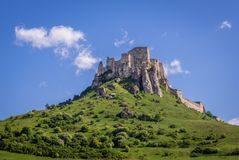Spis Castle in Slovakia. Spis Castle on a hill in Spis region, Slovakia royalty free stock photo