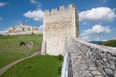 Spis castle , Slovakia. Spis castle in the northern Slovakia stock photo