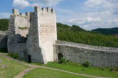 Spis castle , Slovakia. Spis castle in the northern Slovakia royalty free stock photography