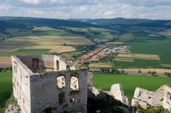 Spis castle , Slovakia. Spis castle in the northern Slovakia royalty free stock image