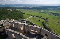 Spis castle , Slovakia Stock Photo
