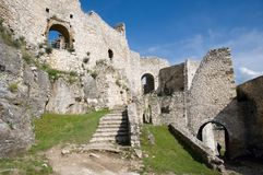 Spis castle , Slovakia. Spis castle in the northern Slovakia royalty free stock photos