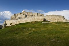 Spis castle, Slovakia. Ruins of Spis castle in easter Slovakia stock images