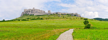 Spis Castle, Slovakia. Spis Castle ruins located in Slovakia royalty free stock photos