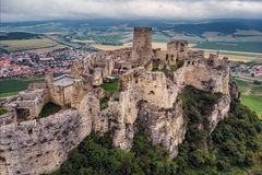 Spis castle slovakia. The Spis Castle - Spissky hrad National Cultural Monument UNESCO - Spis Castle - One of the largest castle in Central Europe Slovakia royalty free stock images