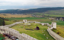 Spis Castle, Slovakia. Spis Castle, Spishsky Hrad fortress ancient medival ruins in Slovakia royalty free stock image