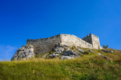 Spis Castle in Slovakia. Spissky Hrad. National Cultural Monument (UNESCO) - Spis Castle - One of the largest castle in Central Europe (Slovakia royalty free stock photos