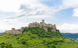 Spis castle royalty free stock photo