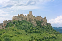 Spis castle royalty free stock photography