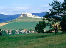 Spis Castle, Slovakia. Spis Castle with village in Slovakia stock photography