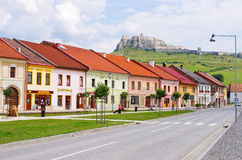 Spis Castle and Spisske Podhradie town, Slovakia. SPISSKE PODHRADIE, SLOVAKIA - AUGUST 21, 2015: Spisske Podhradie town and Spis Castle, Slovakia. It is one of royalty free stock image