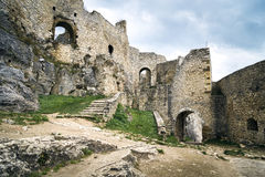 The Spis Castle. Spissky hrad National Cultural Monument (UNESCO) - Spis Castle - One of the largest castle in Central Europe (Slovakia royalty free stock photo