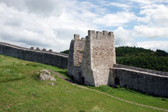 Spis Castle (Spissky hrad), Slovakia. Spis Castle (Spissky hrad) is one of the largest castle compounds in Central Europe stock image