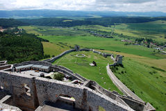 Spis Castle (Spissky hrad), Slovakia. Spis Castle (Spissky hrad) is one of the largest castle compounds in Central Europe stock photo