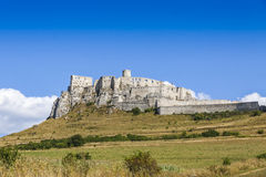Spis Castle (Spissky hrad), Slovakia. Panoramic view of Spis Castle (Spissky hrad), Slovakia. One of the largest castle compounds in Central Europe stock photography