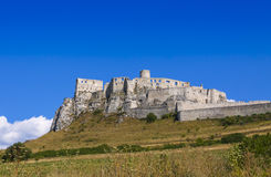Spis Castle (Spissky hrad), Slovakia. Summer view of Spis Castle (Spissky hrad), Slovakia. One of the largest castle compounds in Central Europe stock images