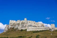 Spis Castle (Spissky hrad), Slovakia. Summer view of Spis Castle (Spissky hrad), Slovakia. One of the largest castle compounds in Central Europe stock photo