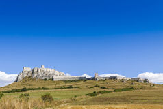 Spis Castle (Spissky hrad), Slovakia. Summer view of Spis Castle (Spissky hrad), Slovakia. One of the largest castle compounds in Central Europe royalty free stock photos