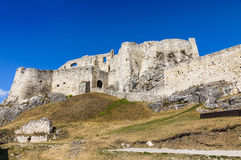 Spis Castle (Spissky hrad), Slovakia. Summer view of Spis Castle (Spissky hrad), Slovakia. One of the largest castle compounds in Central Europe royalty free stock photo