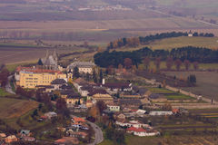 Spis castle town. In the slovakia hills Stock Photography