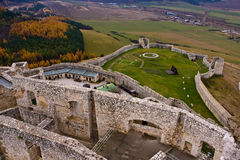 Spis castle town. In the slovakia hills Stock Photo
