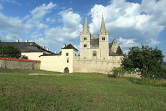 Spis Kapitula. And St. Martin's Cathedral in Slovakia stock image