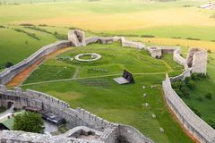 Spis lower castle ruins royalty free stock photos