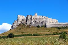 Spis-Schloss Spissky-hrad, Slowakei Stockfoto
