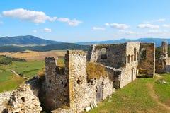 Spis-Schloss Spissky-hrad, Slowakei Stockbild