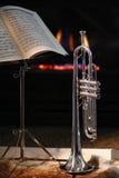 Spis trumpet, musik royaltyfri foto