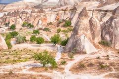 Spisar av feer i cappadocia Arkivbild