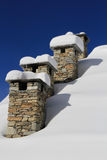 Spisar i vinter Arkivfoton