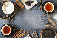 Spised tea on the wooden table Royalty Free Stock Photography