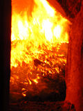 spisgaller för kokkärlflammapanna Royaltyfri Fotografi