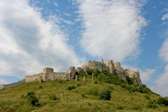 Spiski hrad. The ruins of a huge castle Royalty Free Stock Images