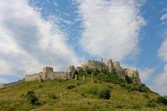 Spiski hrad. The ruins of a huge castle royalty free stock images