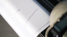 Spiskowa printin projekt, odgórny widok zdjęcie wideo