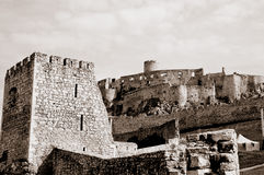 The Spisky Castle in sepia Royalty Free Stock Photos