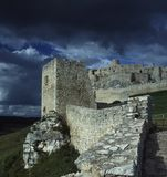 Spisky Castle, Slovakia. Ruins one of the biggest medieval castles in Europe stock images