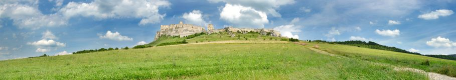 Spiss castle. Slovakia Spiss castle on the hill in summer stock image
