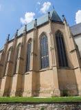 Spisska Kapitula - die Zapolsky-Familienkapelle neben der gotischen Kathedrale St Martins vom Westen Stockbilder