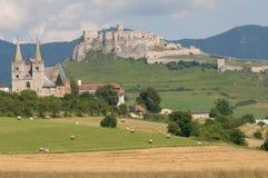 Spisska Kapitula en Spis-kasteel, Slowakije royalty-vrije stock fotografie