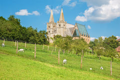 Spisska Kapitula - Saint Martins gothic cathedral from south-west. Royalty Free Stock Photos