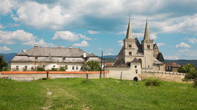 Spisska Kapitula - Saint Martins gothic cathedral and wall of fo Stock Photography