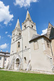 Spisska Kapitula - St Martins gotisk domkyrka från västra Royaltyfri Foto