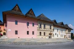Spisska Sobota, Eslovaquia 11 de agosto de 2015 Edificios viejos imagenes de archivo