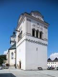 Spisska Sobota, Eslovaquia 11 de agosto de 2015 Iglesia del `s de San Jorge foto de archivo