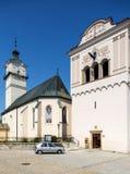 Spisska Sobota, Eslovaquia 11 de agosto de 2015 Iglesia de San Jorge foto de archivo libre de regalías